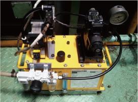 油圧ユニット設置工事